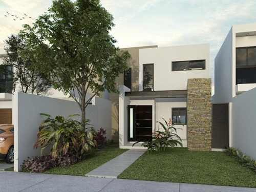 casa puerta de piedra modelo kabah