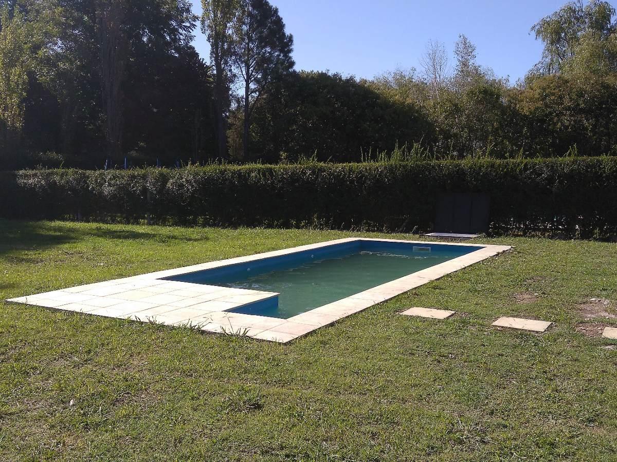casa quinta a estrenar pque 1300m2  90m2  3 amb amp. piscina