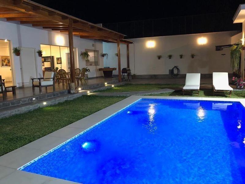 casa quinta amoblado con piscina jacuzzi bbq privada