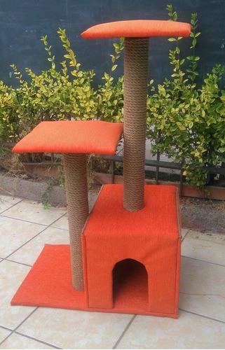 casa , rascador para gatos 90 cm