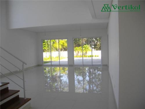 casa residencial a venda, golf village, granja viana - v-1017