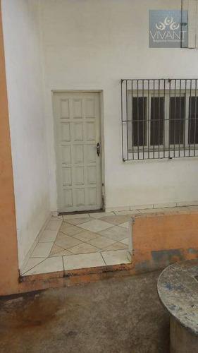 casa residencial para locação, chácara sete cruzes, suzano. - ca0132