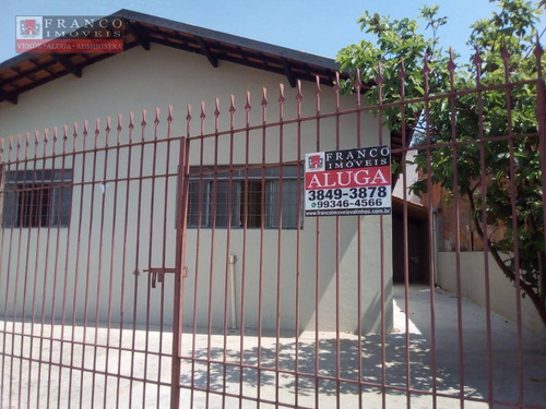 casa residencial para locação, loteamento residencial ana carolina ii , valinhos. - ca0342