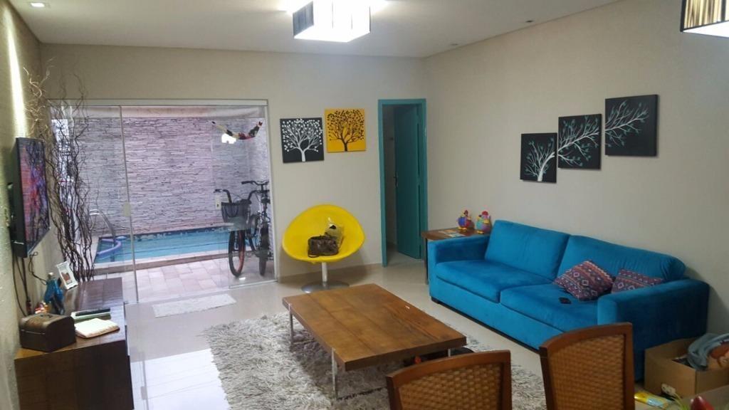 casa residencial à venda, campo grande, santos - ca0003