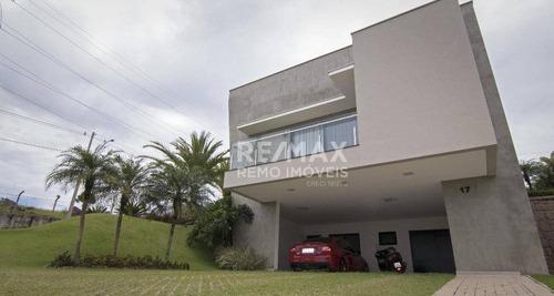 casa residencial à venda, condomínio campo de toscana, vinhedo. - ca5988