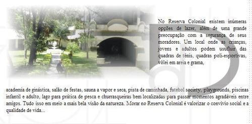 casa residencial à venda, condomínio reserva colonial, valinhos. - ca0648