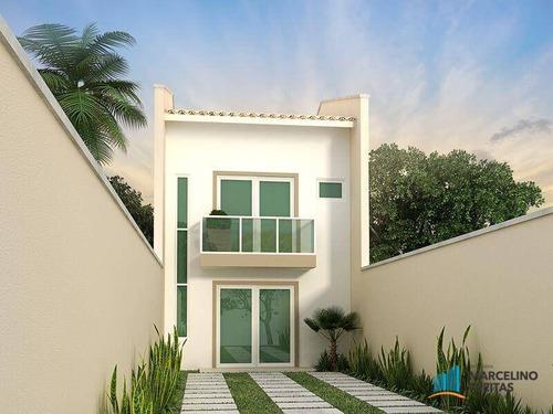 casa residencial à venda, mangabeira, eusébio - ca0966. - ca0966
