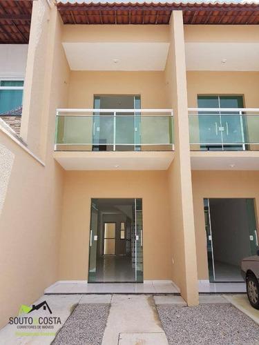 casa residencial à venda, parque santa maria, fortaleza. - ca0148
