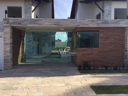 casa residencial à venda, recanto do poço, cabedelo. - ca0021