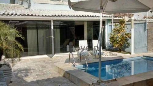 casa residencial à venda, recreio dos bandeirantes, rio de janeiro - ca0190. - ca0190