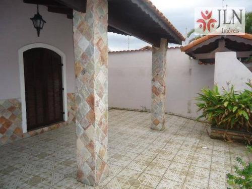 casa residencial à venda, residencial parque augustus, itanhaém. - ca0094