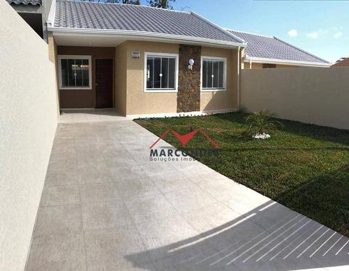 casa residencial à venda, santa terezinha, fazenda rio grande. - ca0128