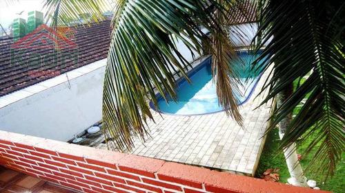 casa residencial à venda, vila mirim, praia grande. - ca0212