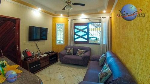 casa residencial à venda, vila mirim, praia grande. - ca3548