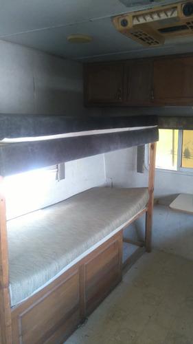 casa rodante 4 camas y apertura 26 pies legalizada