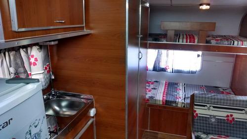 casa rodante 4,50 mts con/perf aluminio rodantes brandsen