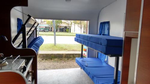 casa rodante 450 x 210 ancho    con porton trasero