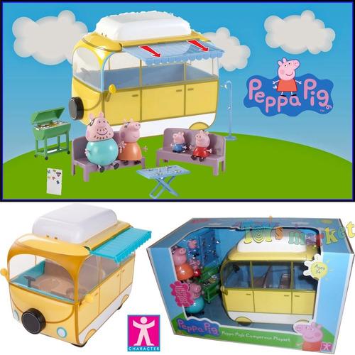 casa rodante auto caravana campervan campamento peppa pig
