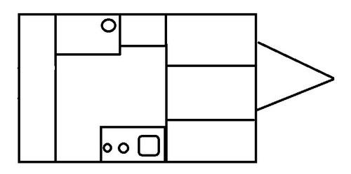 casa rodante bariloche de 3mts para 4 personas a estrenar
