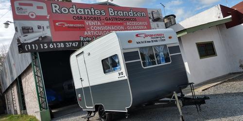casa rodante brandsen 3,10 mts p/ 4 personas 0km std 2020
