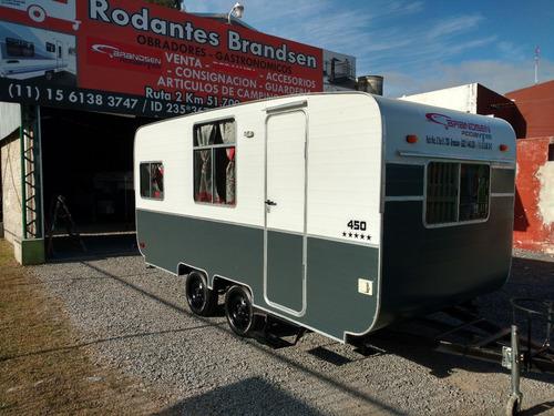 casa rodante brandsen  mod: 4,50 mts d/eje al nueva 0km 2018