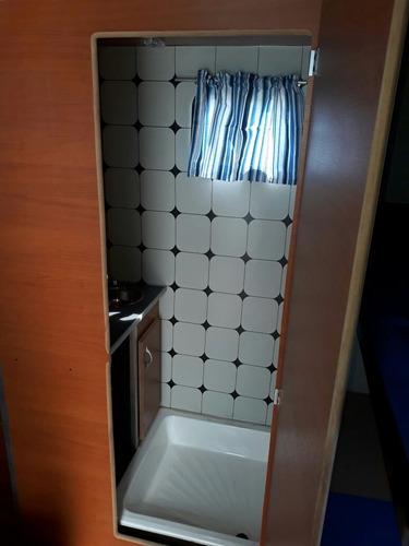 casa rodante de tiro  4,50 metros con baño para la ducha.