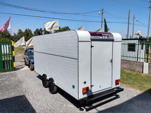casa rodantes brandsen trailer gast 4,50  d-eje balancin