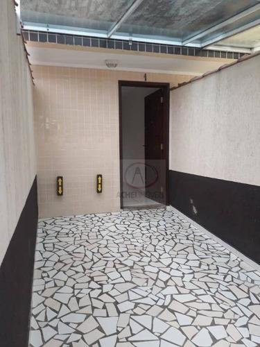 casa seminova à venda, sobrado com entrada independente, quintal, 2 dormitórios, 1 vaga - vila são jorge - são vicente/sp - ca1459