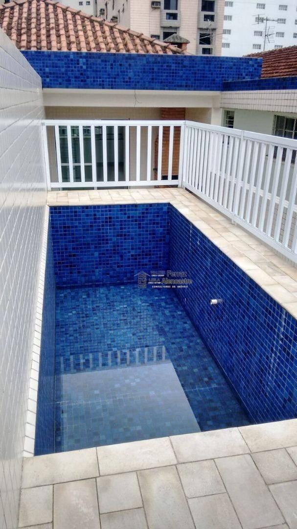 casa sobreposta alta duplex com 4 dormitórios à venda, 269 m² por r$ 1.100.000 - boqueirão - santos/sp - ca0034