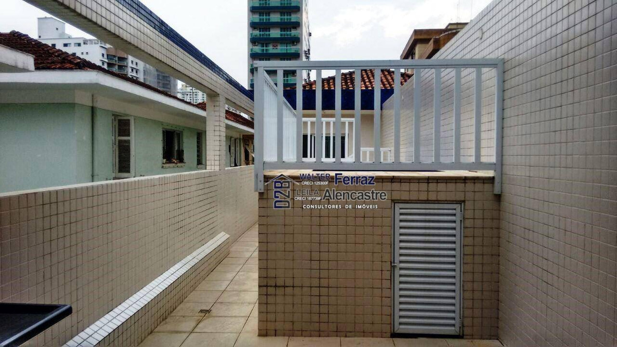 casa sobreposta alta duplex nova com 4 dormitórios à venda, 269 m² por r$ 1.100.000 - boqueirão - santos/sp - ca0033