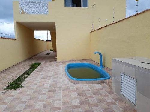 casa sobreposta nova,  com piscina em itanhaém