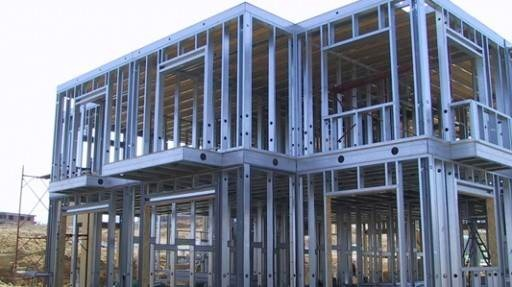 Casa steel frame drywal gesso acartonado estrutura - Casas steel framing ...