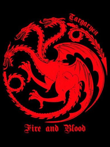 casa targaryen game of thrones poleron serigrafía got