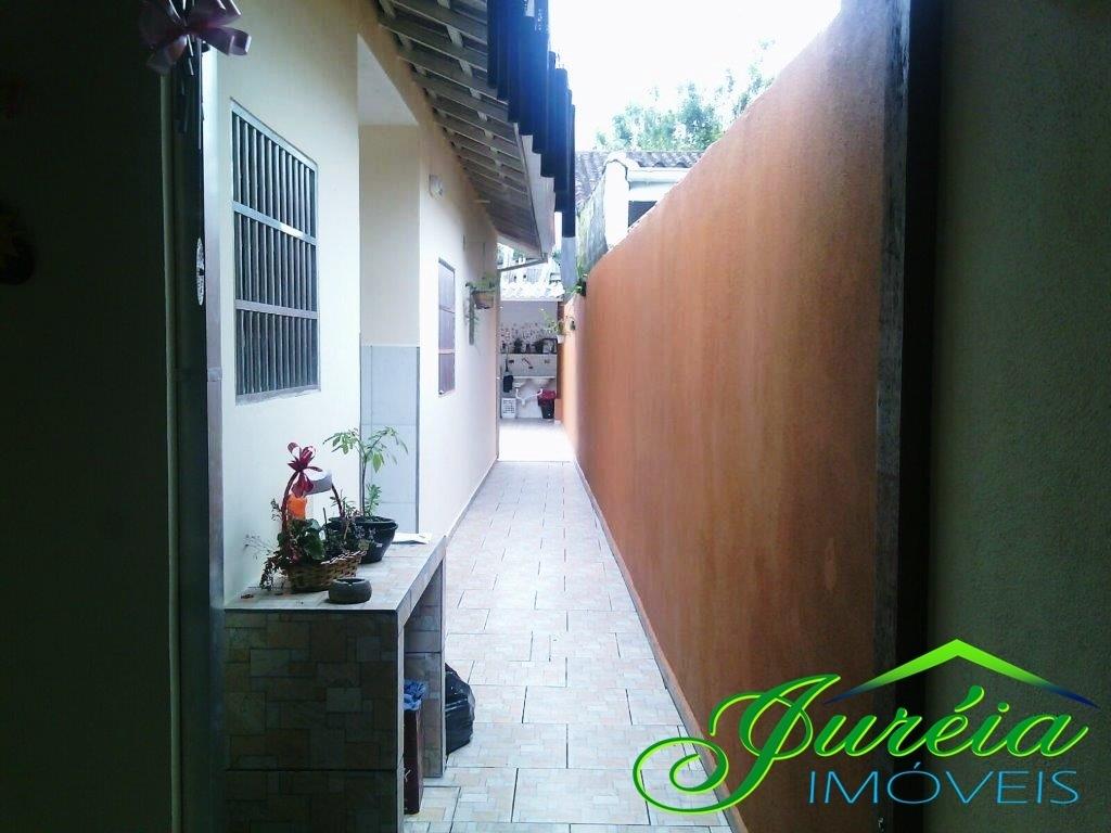 casa térrea mobiliada no bairro ribamar - peruíbe