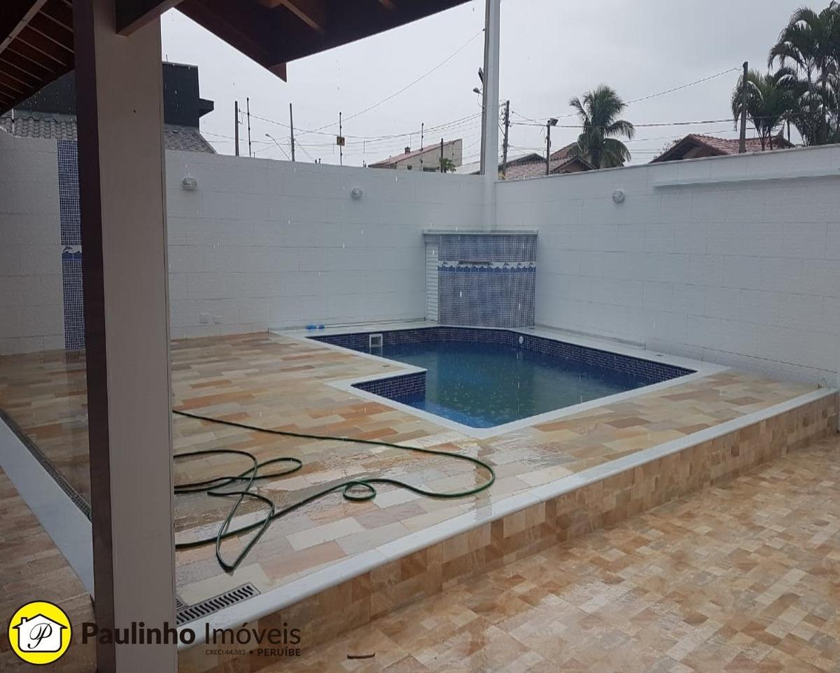 casa térrea vende há 800 mts da praia de peruíbe - ca03267 - 34348946
