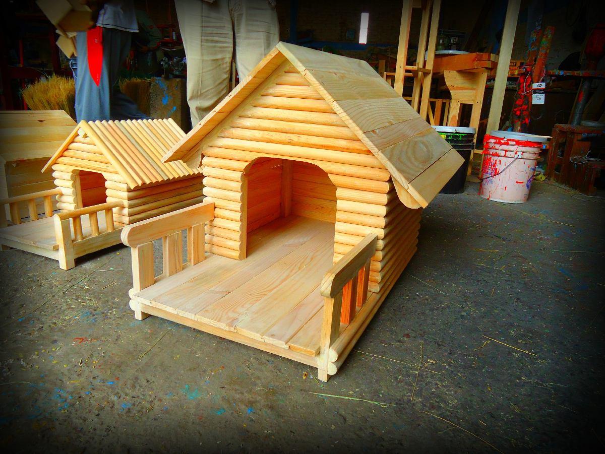 Casa Tipo Cabaña Perros Talla Chica Techo Impermeable