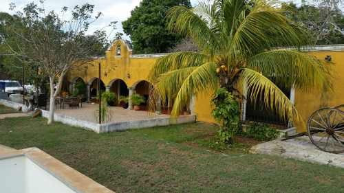 casa tipo hacienda yucateca en cholul