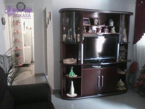 casa à venda, 125 m² por r$ 245.000,00 - jardim do estádio - santo andré/sp - ca0218