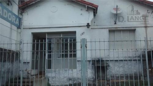 casa à venda, 200 m² por r$ 600.000 - vila joão jorge - campinas/sp - ca8107