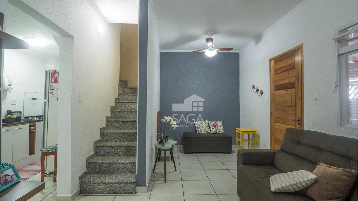 casa à venda, 85 m² por r$ 299.900,00 - vila são jorge - são vicente/sp - ca0684