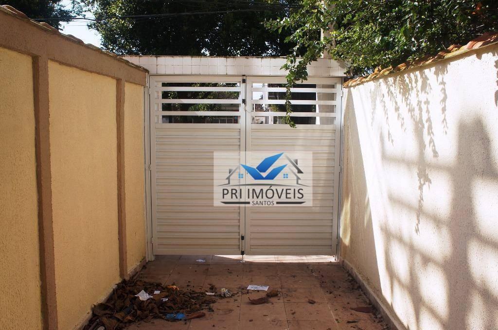 casa à venda, 90 m² por r$ 460.000,00 - marapé - santos/sp - ca0015