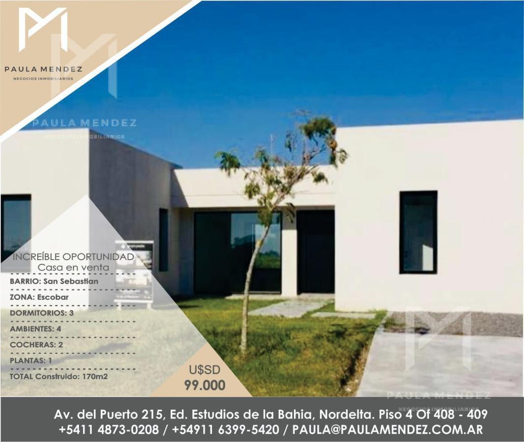 casa - venta - 4 ambientes - san sebastian - escobar