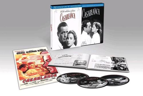 casablanca - blu-ray + dvd - humphrey bogart  ingrid bergman