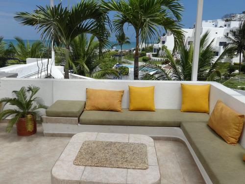 casablanca penthouse de lujo frente mar playa 8-9 pers. same