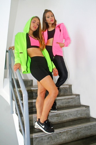 casaca basic hoodie neones kinetix