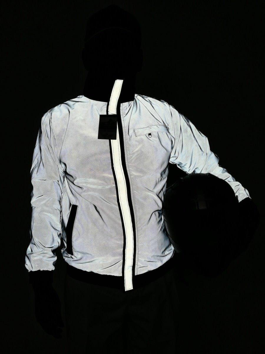54de1167ea4 ... chaqueta 100% reflectiva impermeable para moto. Cargando zoom.