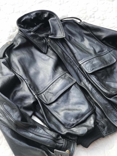 casaca cuero militar piloto a2 talla l