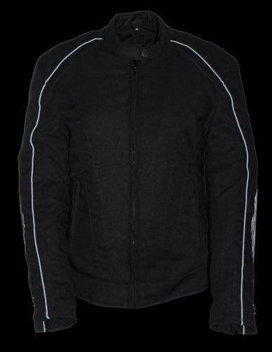 casaca de cuero milwaukee mujer c/detalles de alas negro md