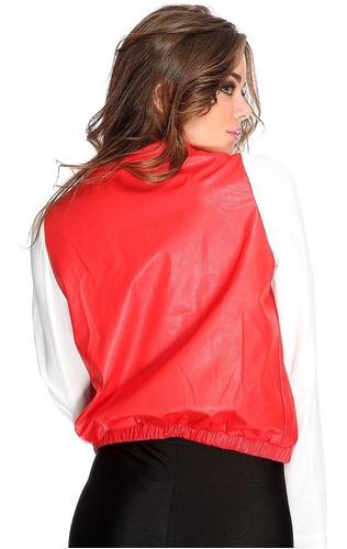 casaca ecocuero y mangas tela importada usa b15
