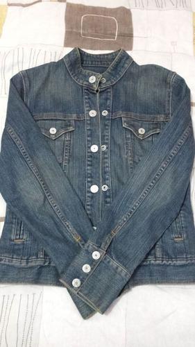 casaca jean para mujer - gap